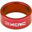 """KCNC Headset Spacer 1 1/8"""" 14mm rød"""